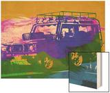 Land Rover Defender Wood Print by  NaxArt
