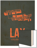 Lax Los Angeles Poster 3 Wood Print by  NaxArt