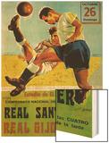 Futbol Promotion Wood Print by  Lantern Press