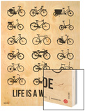 Life is a Wild Ride Poster I Wood Print by  NaxArt