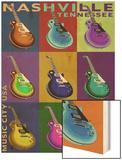 Nashville, Tennessee - Guitar Pop Art Prints by  Lantern Press