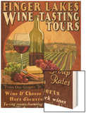 Finger Lakes, New York - Wine Tasting Wood Print by  Lantern Press