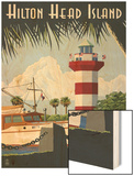 Hilton Head Island, SC - Harbour Town Lighthouse Poster by  Lantern Press