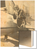 Howard Hughes Pilot Boarding Plane in Full Uniform Photograph - Newark, NJ Wood Print by  Lantern Press