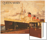Long Beach, California - Queen Mary Wood Print by  Lantern Press
