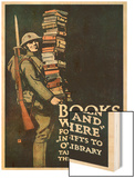 Poster of the American Association of Libraries for Supplying Books to the Troops on Service Prints