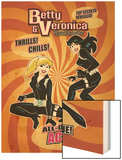 Archie Comics Cover: Betty & Veronica Spectacular No.87 All Out Action Issue! Wood Print by Dan Parent