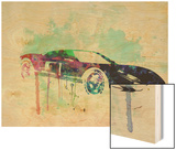 Ford Gt Watercolor 2 Wood Print by  NaxArt