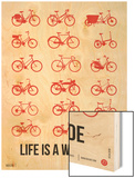 Life is a Wild Ride Poster II Wood Print by  NaxArt