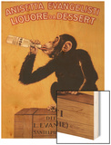 Italy - Anisetta Evangelisti Liquore da Dessert Promotional Poster Wood Print por Lantern Press