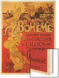 Puccini, La Boheme Wood Print by Adolfo Hohenstein