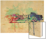 Ferrari Testa Rossa Watercolor 2 Wood Print by  NaxArt