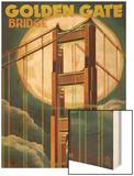 Golden Gate Bridge and Moon - San Francisco, CA Posters