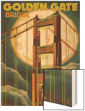 Golden Gate Bridge and Moon - San Francisco, CA Posters by  Lantern Press