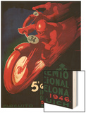 Barcelona, Spain - 5 Gran Premio International Motorcycle Poster Wood Print by  Lantern Press