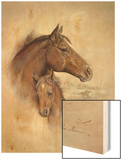 Race Horse II Wood Print by Ruane Manning