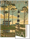 Bodie Island Lighthouse - Outer Banks, North Carolina Wood Print by  Lantern Press