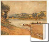 Hawkesbury River New South Wales, The Old Ford Wood Print by Percy F.s. Spence