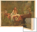 The Lady of Shalott Floating Down the River Art by John William Waterhouse