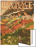 Pike Place Market Produce - Seattle, WA Wood Print by  Lantern Press