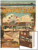 Newport Beach, California - Newport Beach Montage Print by  Lantern Press