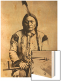Sitting Bull (Tatanka Iyotake) 1831-90 Teton Sioux Indian Chief Wood Print