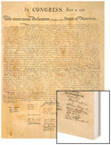 American Declaration of Independence, c.1776 Wood Print