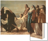 The Deposition of Christ Wood Print by Antonio Ciseri