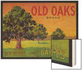Old Oaks Pear Crate Label - Bryte, CA Wood Print by  Lantern Press
