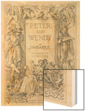 The Frontispiece to J.M.Barrie's Prose Version of Peter Pan Wood Print by Francis Bedford