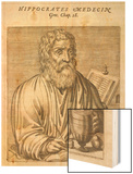 Hippocrates Greek Medical Wood Print by Andre Thevet