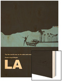 Los Angeles Poster Wood Print by  NaxArt