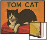 Tom Cat Lemon Label - Orosi, CA Wood Print by  Lantern Press
