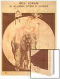 Circus Elephant and His Trainer Miss Cornak Wood Sign by Gesmar