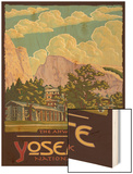 Ahwahnee Lodge, Yosemite National Park, California Wood Print by  Lantern Press