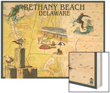 Bethany Beach, Delaware - Nautical Chart Posters