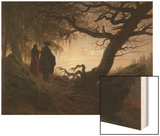 Man and Woman Contemplating the Moon Prints by Caspar David Friedrich