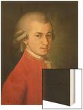 Posthumous Painting of Wolfgang Amadeus Mozart, 1756-1791 Wood Print