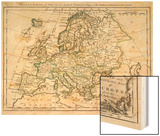Map of Europe Wood Print by J. Gibson