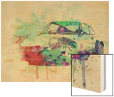 Porsche 911 Watercolor 2 Print by  NaxArt