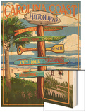 Hilton Head, South Carolina - Destination Signs Print by  Lantern Press