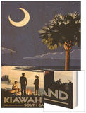 Palmetto Moon - Kiawah Island, South Carolina Wood Print by  Lantern Press