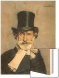 Giuseppe Verdi Italian Composer Wood Print by Giovanni Boldini