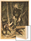 Trolls May be Big But They're Also Thick Wood Print by Theodor Kittelsen
