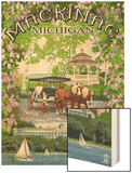 Mackinac, Michigan - Montage Scenes Wood Print by  Lantern Press