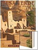 Mesa Verde National Park, Colorado - Cliff Palace Wood Print by  Lantern Press