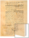 Draft of the Declaration of Independence in Jefferson's Handwriting, Page 1 Wood Print