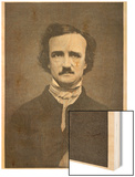 Edgar Allan Poe American Writer Wood Print by Timothy Cole