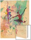 Two Dancing Ballerinas Watercolor 2 Art by Irina March