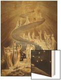 Jacob's Ladder Wood Print by William Blake